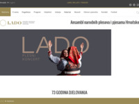Frontpage screenshot for site: Ansambl Lado (http://www.lado.hr/)