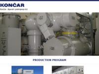 Frontpage screenshot for site: Končar - Sklopna postrojenja d.d. (http://www.koncarsp.hr)