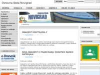 Slika naslovnice sjedišta: OŠ Novigrad (http://www.os-novigrad.skole.hr/)