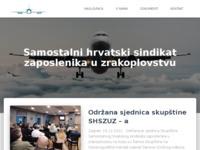 Slika naslovnice sjedišta: Samostalni hrvatski sindikat zaposlenika u zrakoplovstvu (http://www.shszuz.hr)