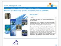 Frontpage screenshot for site: Radogost.com - Iznajmljivanje privatnih apartmana online (http://www.radogost.com)