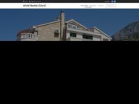 Frontpage screenshot for site: Apartmani Čović (http://www.covic.tucepi.com.hr/)