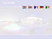 Frontpage screenshot for site: Hotel Aurora, Pula (http://www.hotel-aurora.hr/)
