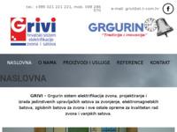Frontpage screenshot for site: Grivi - elektrificira zvona i satove (http://www.grivi.hr/)