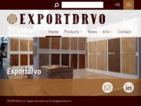 Frontpage screenshot for site: Exportdrvo d.d., Zagreb, Croatia (http://www.exportdrvo.hr)