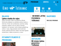 Frontpage screenshot for site: (http://www.filmski-programi.hr)