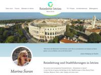 Frontpage screenshot for site: Turistički vodič Marina (http://www.reiseleiter-istrien.com/)