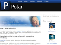 Frontpage screenshot for site: Razvoj i prodaja softvera (http://www.polar.hr/)