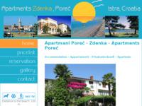 Frontpage screenshot for site: Apartmani Korlević Poreč (http://free-pu.t-com.hr/porec_apartmani/)