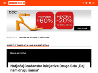 Slika naslovnice sjedišta: Nezavisni portal Dugog Sela (http://www.dugoselo.org)