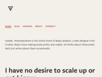 Frontpage screenshot for site: Yesterdayishere (http://yesterdayishere.com/)