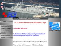 Slika naslovnice sjedišta: Pomorski centar za elektroniku (http://www.pce.hr)