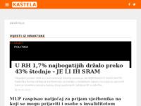 Frontpage screenshot for site: Kaštela (http://kastelahr.com/)