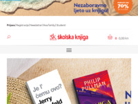 Frontpage screenshot for site: Školska knjiga d.d. (http://www.skolskaknjiga.hr)