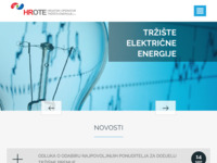 Frontpage screenshot for site: HROTE d.o.o. (http://www.hrote.hr/)