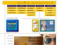 Frontpage screenshot for site: Mišo Dunović, Split - arhitekt, dizajner, slikar i pjesnik (http://www.cromedia.com/miso)