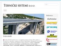 Frontpage screenshot for site: Tehnički sistemi d.o.o. (http://www.tehnicki-sistemi.hr/)