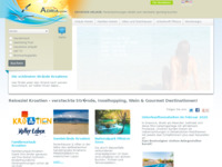 Frontpage screenshot for site: Webadria - Ponuda privatnog smještaja (http://www.webadria.com/)