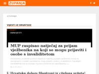 Slika naslovnice sjedišta: Internet portal - Grad Županja (http://zupanja.org/)