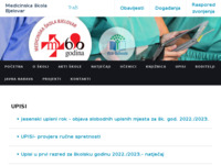 Slika naslovnice sjedišta: Medicinska škola Bjelovar (http://www.medskolabjelovar.hr/)