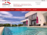 Frontpage screenshot for site: Nekretnine Istra - Residence (http://www.residence.hr)
