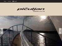 Frontpage screenshot for site: Pičuljan marine d.o.o. (http://www.piculjan.hr/)