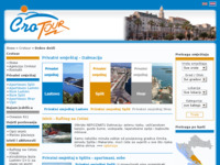 Frontpage screenshot for site: Crotour (http://www.crotour.com/)