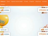 Frontpage screenshot for site: Akcija mladih - Hrvatska stranka (http://www.akcijamladih.org/)