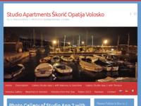 Frontpage screenshot for site: Apartman studio Škorić (http://www.skoric-opatija.com)