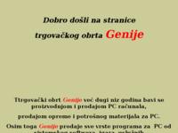 Frontpage screenshot for site: Trgovina računala Genije (http://free-ka.htnet.hr/genije)