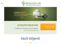 Frontpage screenshot for site: (http://www.prijevodi.hr/)