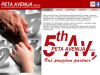 Frontpage screenshot for site: (http://www.petaavenija.hr/)