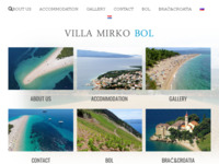 Frontpage screenshot for site: (http://www.villa-mirko-bol.com/)