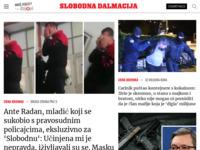 Frontpage screenshot for site: Slobodna Dalmacija (http://www.slobodnadalmacija.hr/)