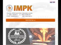 Frontpage screenshot for site: Industrija metalnih proizvoda i konstrukcija d.o.o. (http://www.impk.biz)
