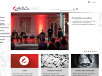 Frontpage screenshot for site: Cantus d.o.o. produkcija, organizacija, izdavaštvo (http://www.cantus.hr/)