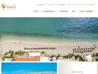 Frontpage screenshot for site: Hotel Tamaris, Baška - otok Krk (http://www.baska-tamaris.com)
