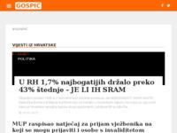 Slika naslovnice sjedišta: Neslužbeni portal grada Gospića. (http://www.gospic-online.com/)