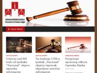 Slika naslovnice sjedišta: Udruga hrvatskih sudaca (http://www.uhs.hr/)