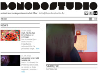 Frontpage screenshot for site: (http://www.bonobostudio.hr)