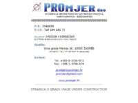 Slika naslovnice sjedišta: PROmjer d.o.o., Zagreb (http://www.promjer.hr/)