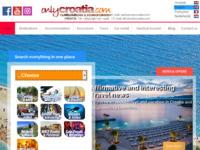 Frontpage screenshot for site: Putnička agencija OnlyCroatia (http://www.onlycroatia.com)