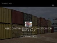 Frontpage screenshot for site: Kontejneri (http://www.amfibija.com/)