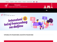 Frontpage screenshot for site: Alliance Francaise (http://www.alliance-francaise.hr)