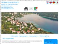 Frontpage screenshot for site: Apartmani Kampor (http://www.guscic.com/)