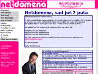 Frontpage screenshot for site: Netdomena (http://www.netdomena.hr/)