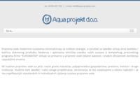 Frontpage screenshot for site: Aqua projekt d.o.o. (http://www.aqua-projekt.com/)