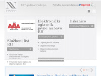 Frontpage screenshot for site: Narodne novine d. d. (http://www.nn.hr/)