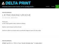 Frontpage screenshot for site: Delta print (http://www.deltaprint.hr)