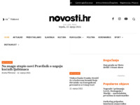 Frontpage screenshot for site: Novosti d.o.o. Vinkovci - Radio Vinkovci, Vinkovački list (http://novosti.hr)